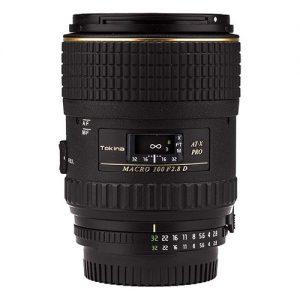 Tokina ATXAFM100PRON 100mm f/2.8 Pro D Macro Autofocus Lens for Nikon AF-D, Black