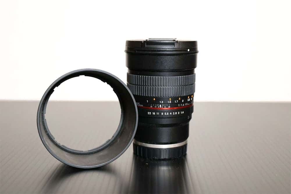 Rokinon 85mm f 1.4 manual focus lens for sony a6000 series cameras