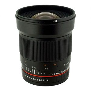 Rokinon 24mm F/1.4 Aspherical Wide Angle Lens for Nikon with Automatic AE Chip