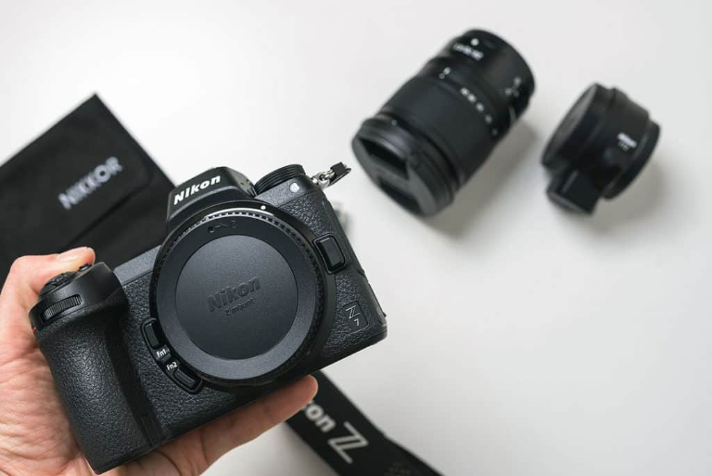 Nikon z6 with two prime lenses