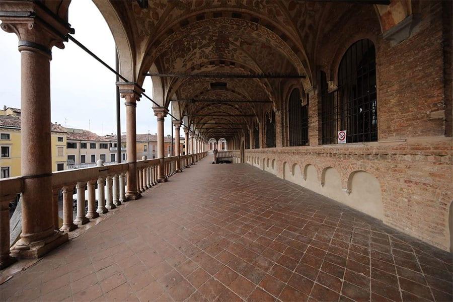 corridor at a wide angle