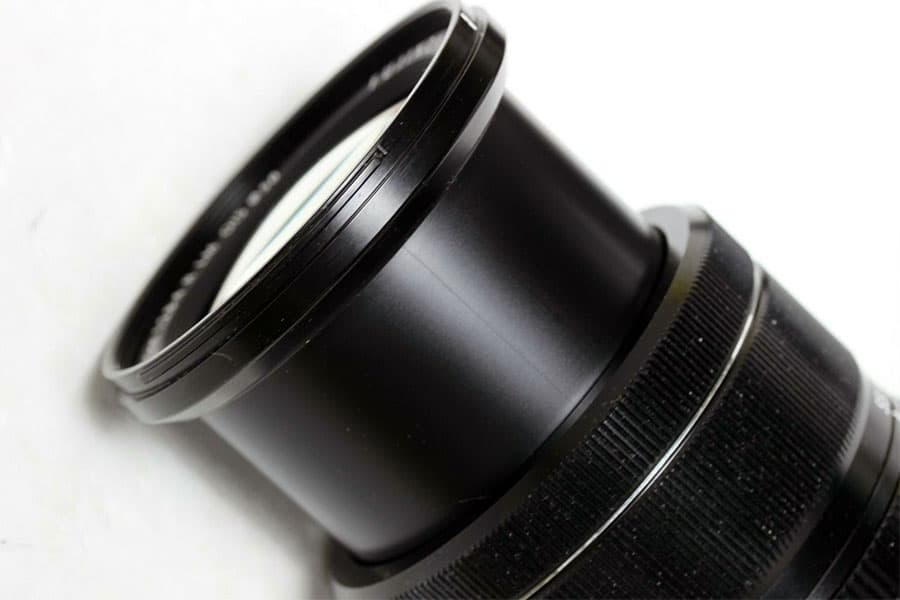 extended 18-55 fuji zoom lens