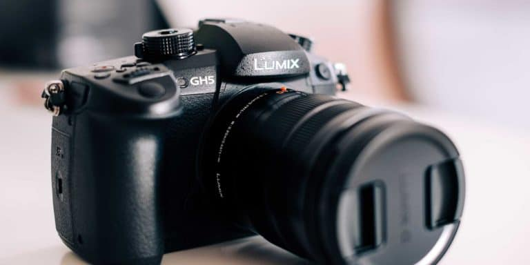 panasonic lumix gh5 with a zoom lens