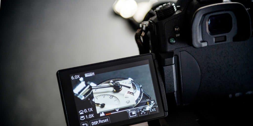 Lumix gh5 camera filming a movie