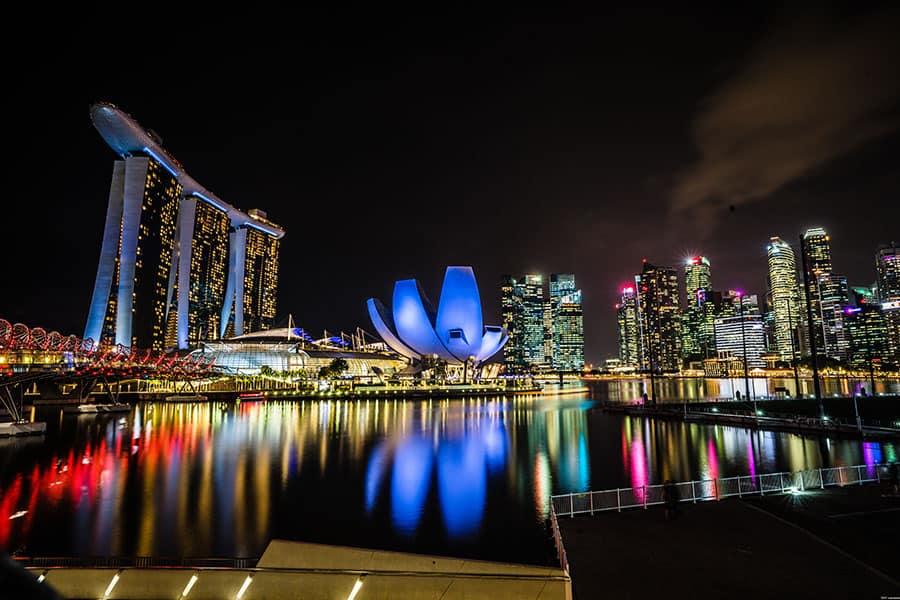 Singapore at 40mm (20mm full frame equivalent)