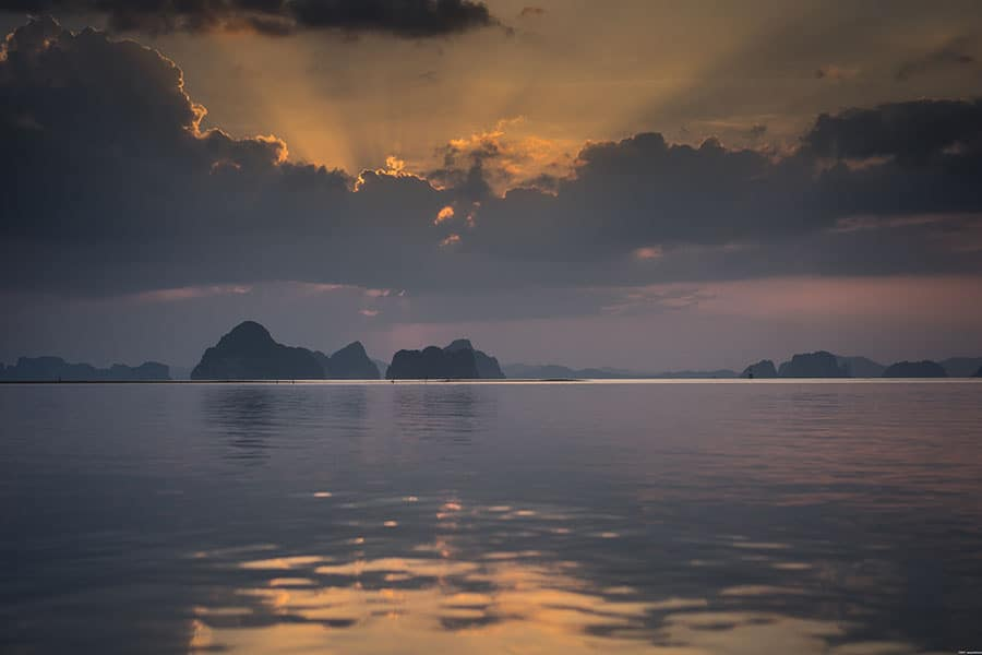Glorious sunset photograph in thailand