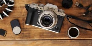 Fuji X-T4 with accessories