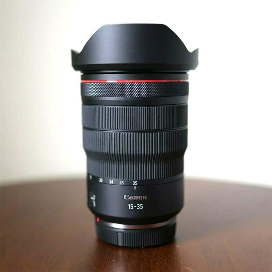 Canon RF 15-35-mm- f2.8 wide angle zoom lens
