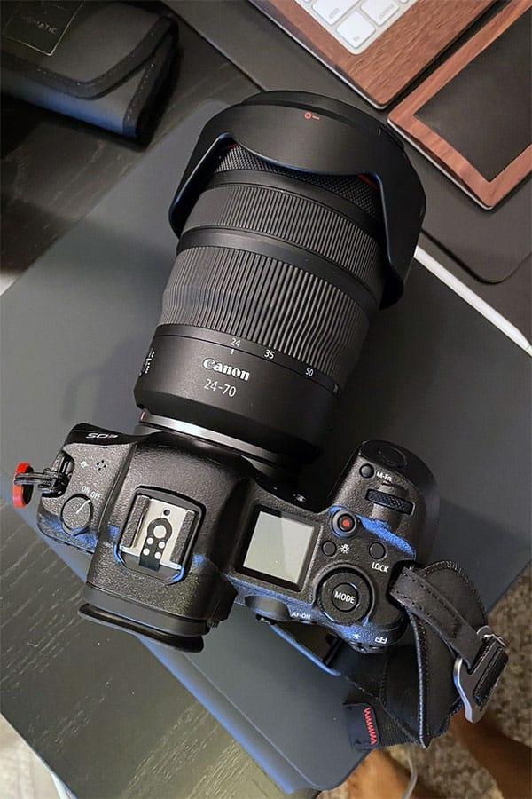Canon EOS R with 24-70 2.8 RF lens