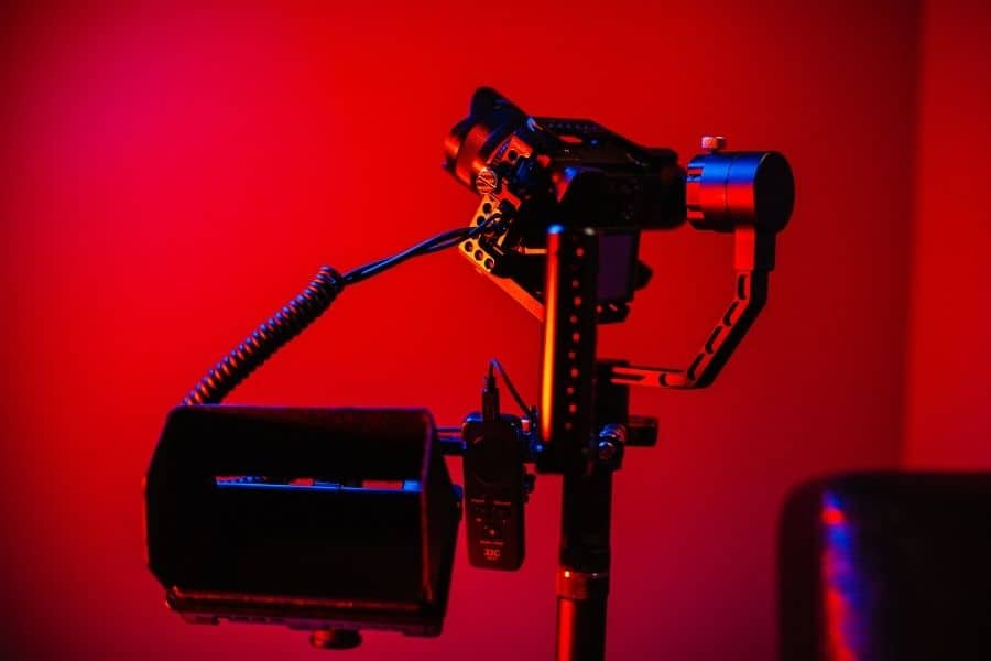 camera shooting professional videos with a gimbal