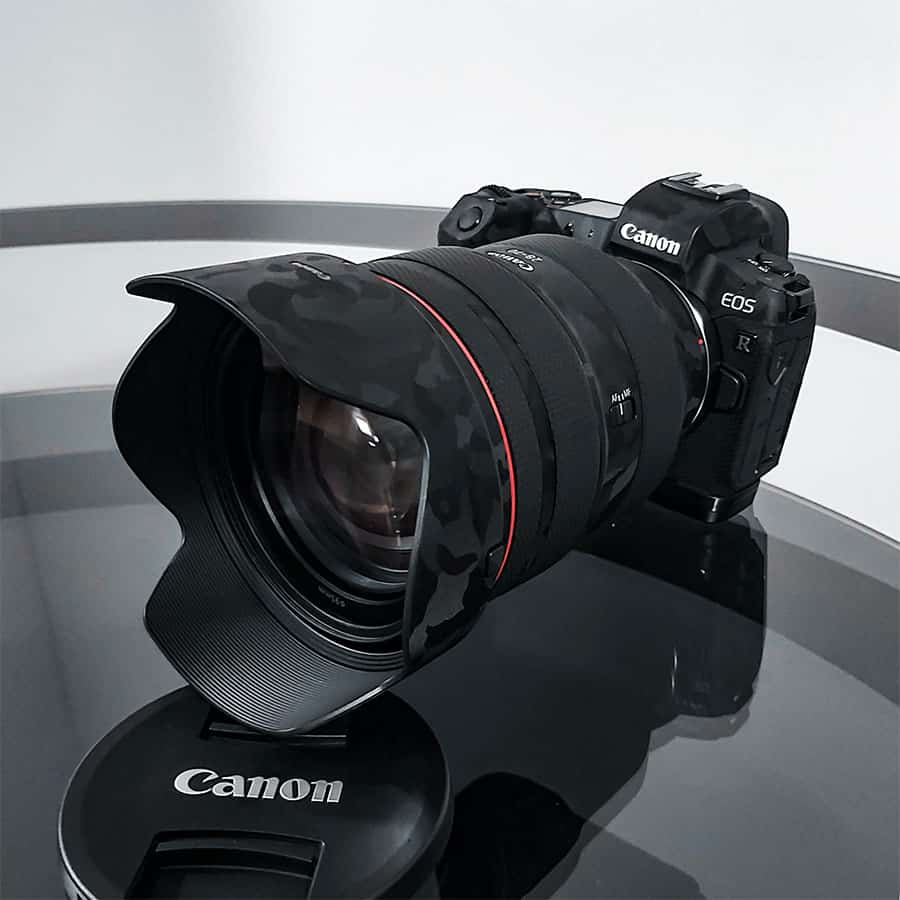 canon eos r with the 28-70 f2 lens