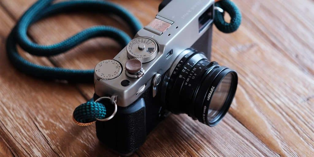 fujifilm x-pro3 mirrorless camera with a vintage lens