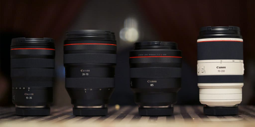 canon rf wedding photography lenses