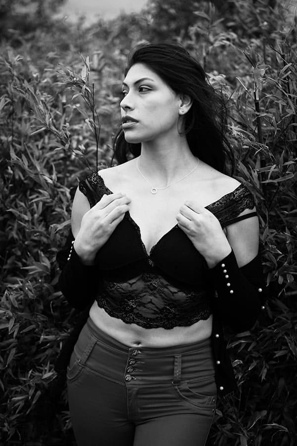 fabiola murray black and white portrait