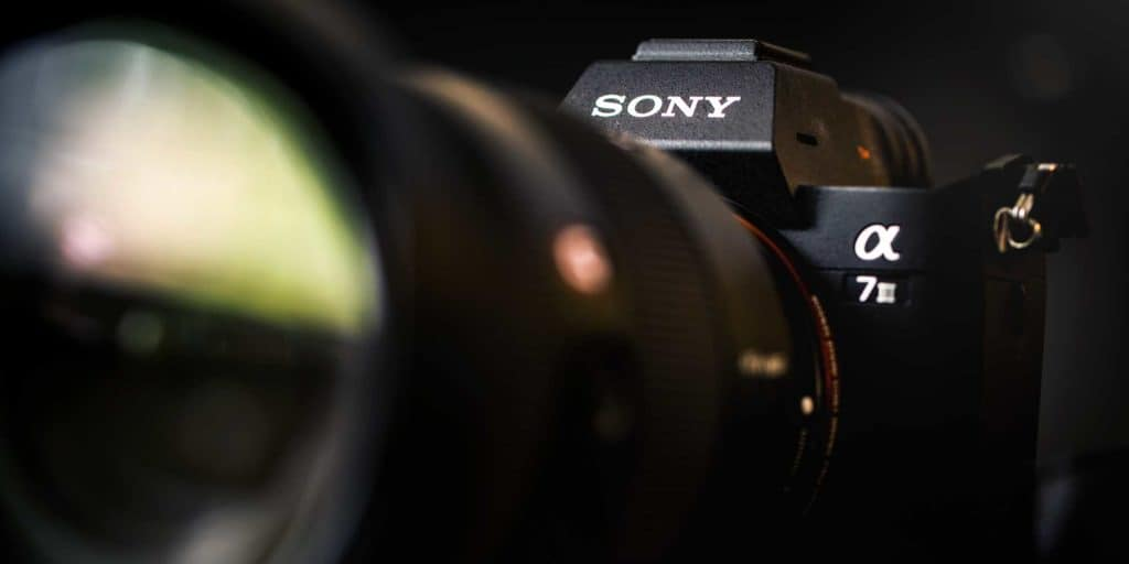 sony A7III mirrorless camera with a macro lens