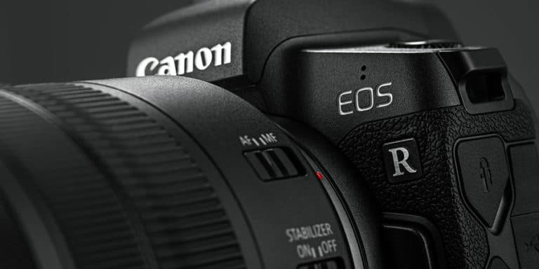 canon eos r mirrorless camera closeup
