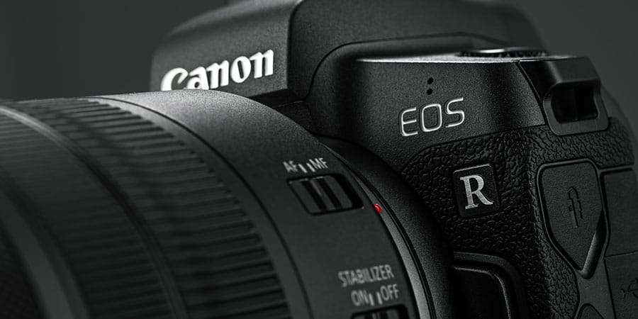 canon eos r mirrorless camera closeup
