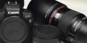 canon eos R with video lenses