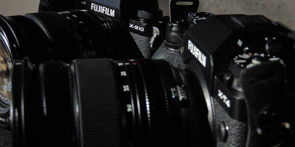 fuji s10 and x-t4 cameras