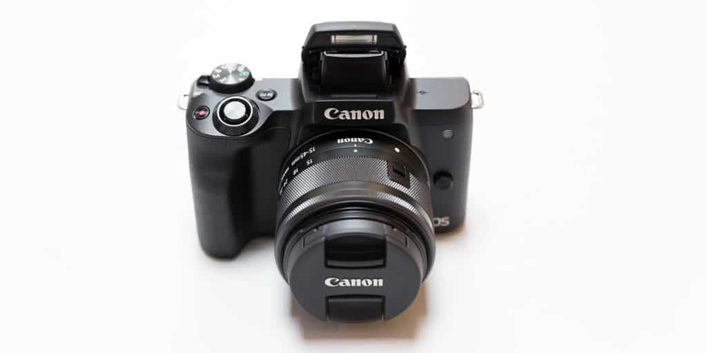 canon EOS M50 Mark ii on a white background