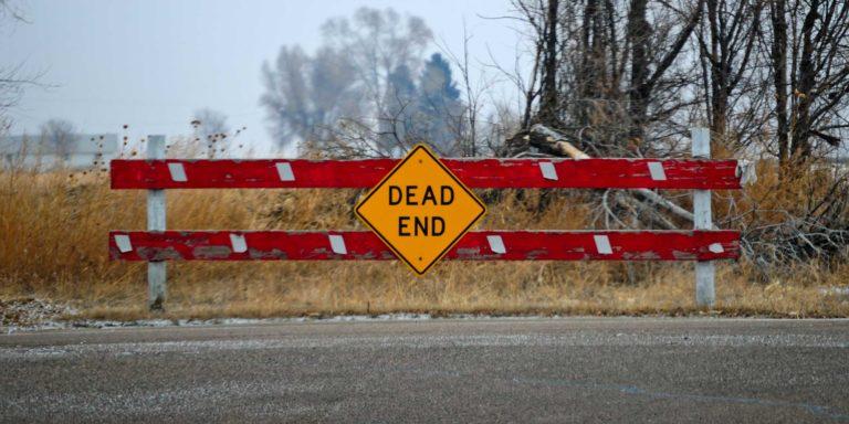 dead end stock photograph