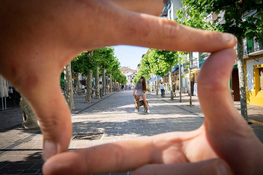 focal length wider frame example with hands
