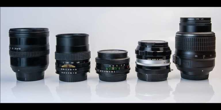 lenses with different focal lengths