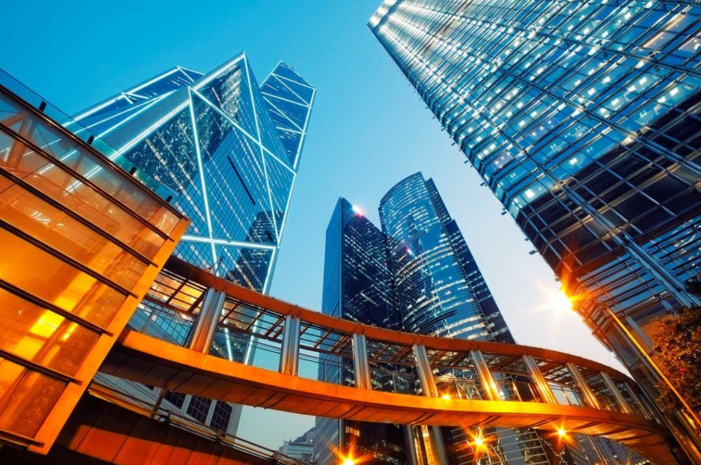 converging parallels example on skyscraper buildings